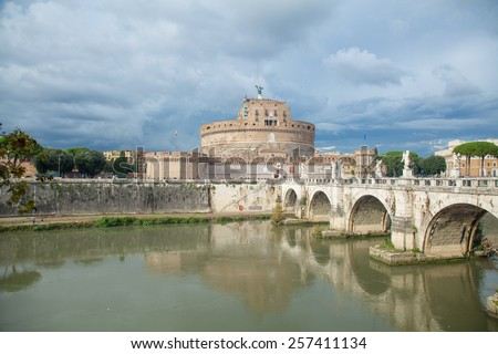 sant' angelo castle, rome - stock photo