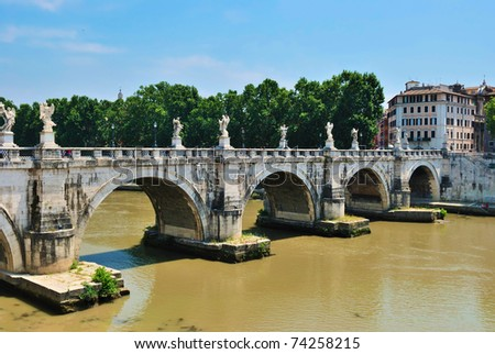 Sant'Angelo's Bridge Rome, Italy
