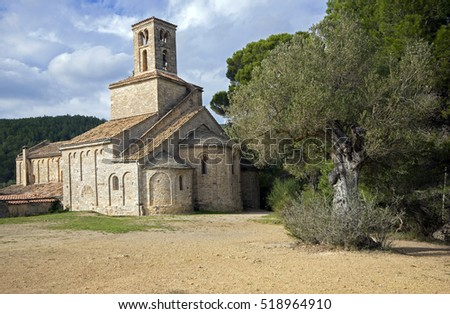 Sant Pon�§ de Corbera,romanesque church in Corbera de Llobregat,catalonia,Spain
