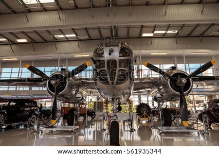 engine airplane under heavy maintenance stock photo