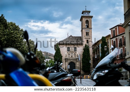Santa Ana Church in Granada (Spain) - stock photo
