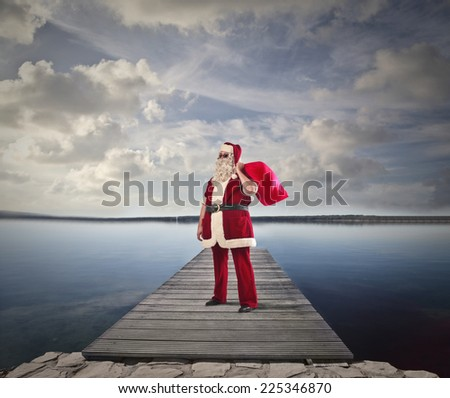 Santa at the beach