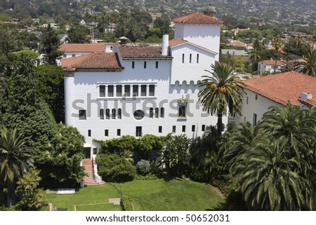 Santa Barbara Courthouse, california - stock photo