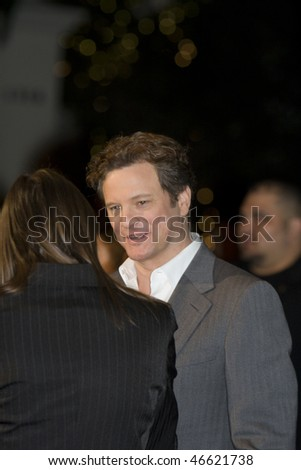 "SANTA BARBARA - FEB. 132- Leading Actor Oscar nominee Colin Firth (""A Single Man"") is interviewed at the 25th Santa Barbara International Film Festival, Feb. 13, 2010 in Santa Barbara, CA"