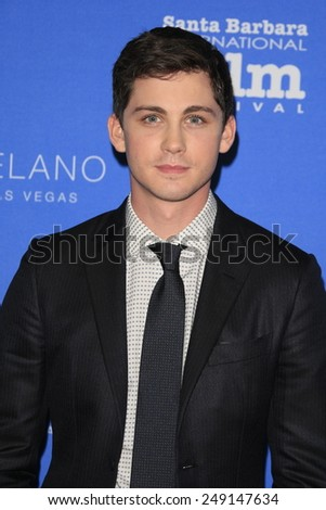 SANTA BARBARA - FEB 1: Logan Lerman at the Virtuosos Award at the 30th Santa Barbara International Film Festival at the Arlington Theatre on February 1, 2015 in Santa Barbara, CA - stock photo