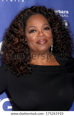 SANTA BARBARA - FEB 5:  Oprah Winfrey at the Santa Barbara International Film Festival Honors Oprah Winfrey at Arlington Theater on February 5, 2014 in Santa Barbara, CA - stock photo