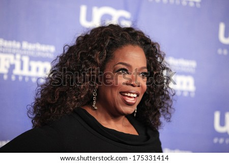 SANTA BARBARA - FEB 5: Oprah Winfrey at the 29th Santa Barbara International Film Festival Montecito Award at the Arlington Theater on February 5, 2014 in Santa Barbara, CA - stock photo