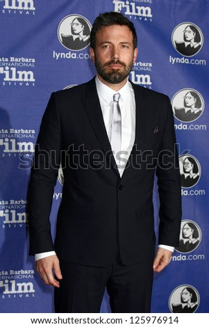 SANTA BARBARA - JAN 25:  Ben Affleck arrives at the 2013 SBIFF Modern Masters Award presented to Ben Affleck at Arlington Theater on January 25, 2013 in Santa Barbara, CA - stock photo