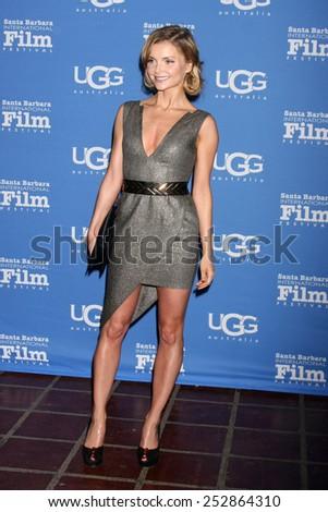 "SANTA BARBARA - JAN 27:  Izabella Miko at the Santa Barbara International Film Festival - US Premiere of ""Desert Dancer"" at a Arlington Theater on January 27, 2015 in Santa Barbara, CA - stock photo"