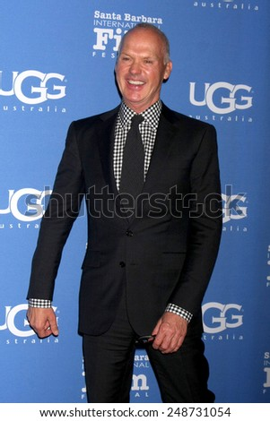 SANTA BARBARA - JAN 31:  Michael Keaton at the Santa Barbara International Film Festival - Modern Master at a Arlington Theater on January 31, 2015 in Santa Barbara, CA - stock photo