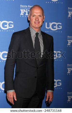 SANTA BARBARA - JAN 31:  Michael Keaton at the Santa Barbara International Film Festival - Modern Master at a Arlington Theater on January 31, 2015 in Santa Barbara, CA - stock photo