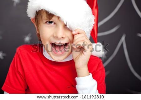 Santa boy - stock photo