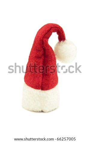 santa cap isolated on white - stock photo
