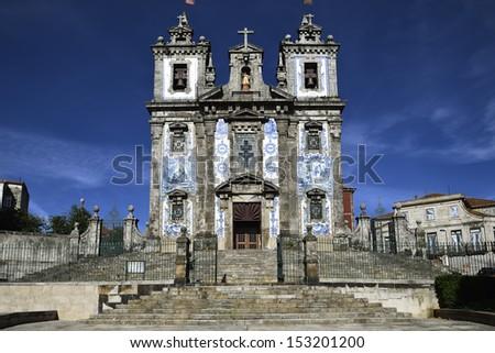 Santa Clara church facade at Porto, Portugal  - stock photo