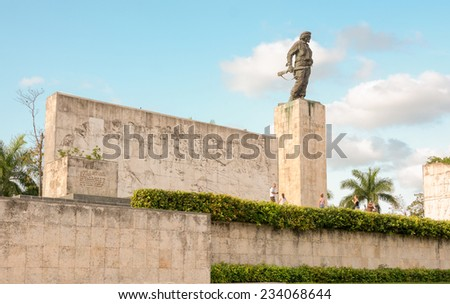 "SANTA CLARA,CUBA-JULY 3,2014: The Che Guevara Mausoleum is a memorial which houses the remains of executed Marxist revolutionary Ernesto ""Che"" Guevara killed in 1967 in an armed uprising in Bolivia."
