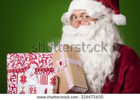 Santa claus always has something for everybody - stock photo