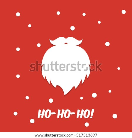 Santa Claus beard. Christmas background
