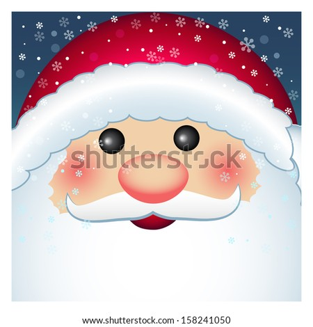 Santa Claus card, vector Merry Christmas and Happy New Year