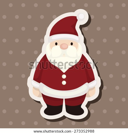 santa claus , cartoon sticker icon