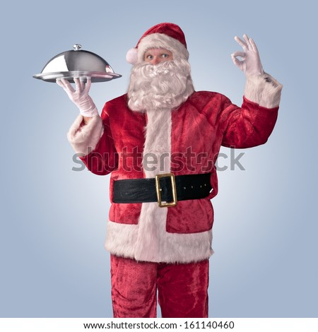Santa Claus chef on an isolated background - stock photo