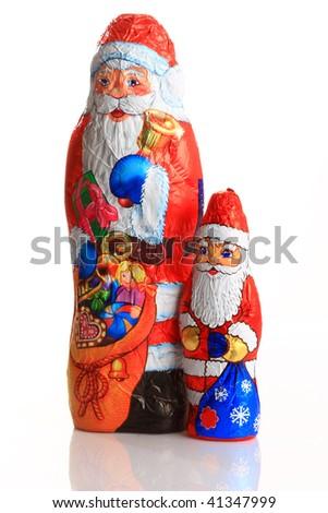 Santa Claus chocolate - stock photo