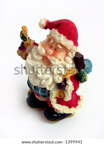 Santa claus Christmas decoration - stock photo