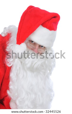 Santa Claus Close up isolated on white