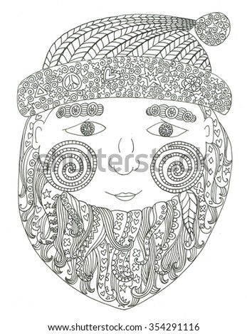 Santa Claus Coloring Page Stock Illustration 354291116 - Shutterstock