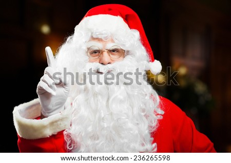 Santa Claus congratulating for being good through the year