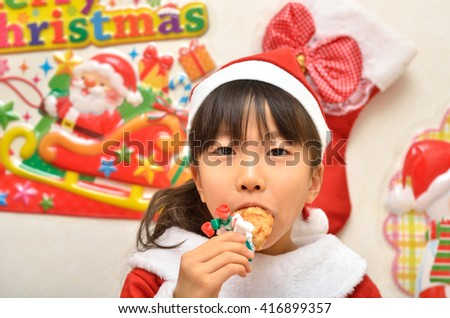 Santa Claus costume to enjoy the party girl