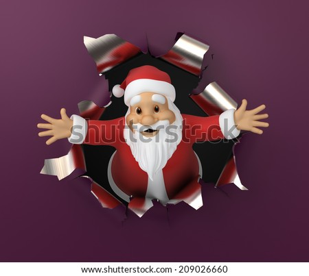 Santa Claus, 3d illustration