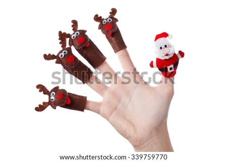 Santa claus christmas decorations roof stock photos santa claus