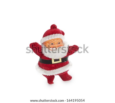 Santa Claus figurine isolated on white background - stock photo