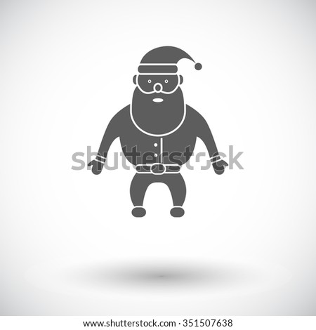 Santa Claus. Flat related icon for web and mobile applications. It can be used as - logo, pictogram, icon, infographic element. Illustration. - stock photo