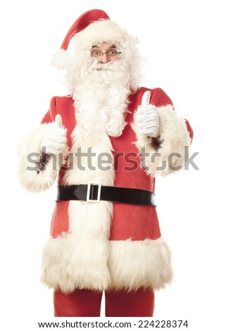 Santa Claus giving thumbs up