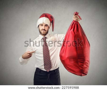 Santa Claus has got a gift for you  - stock photo