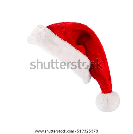 Santa Claus helper hat isolated on white background