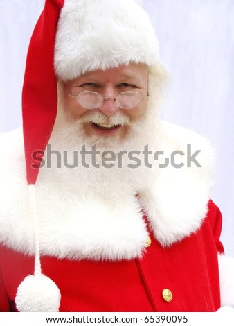 Santa Claus in a red suit