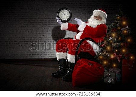 santa claus in home