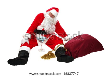 Santa Claus is Passed out Drunk anti drinking concepts santa says no to booze