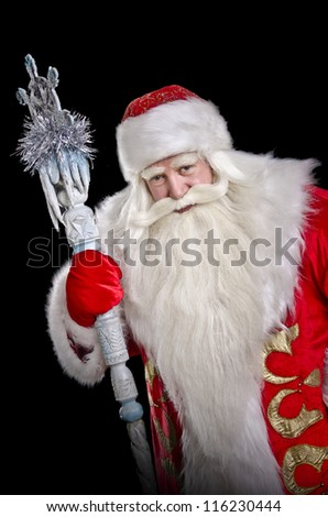 Santa Claus on a black background