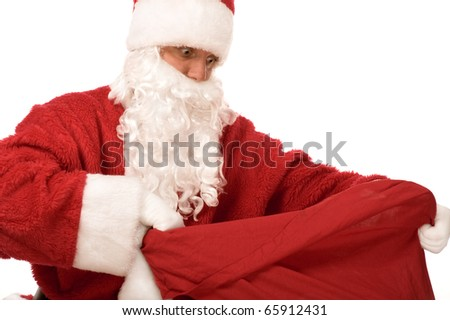 santa claus on white background isolated