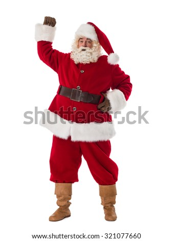 Santa Claus Portrait. Celebrating success - stock photo