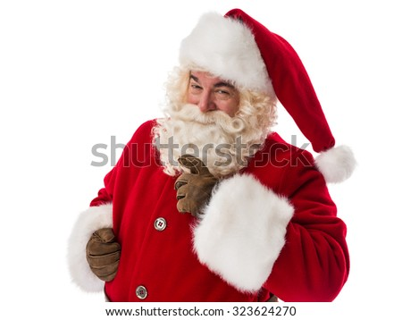Santa Claus Portrait Isolated on White Background