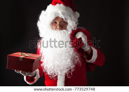 Santa Claus portrait on dark background