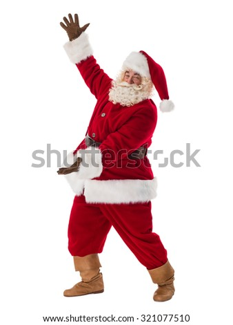 Santa Claus Portrait. Presenting blank space for your product - stock photo