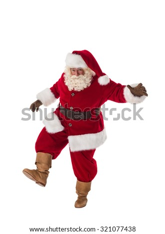 Santa Claus Portrait. Walking on the prowl - stock photo