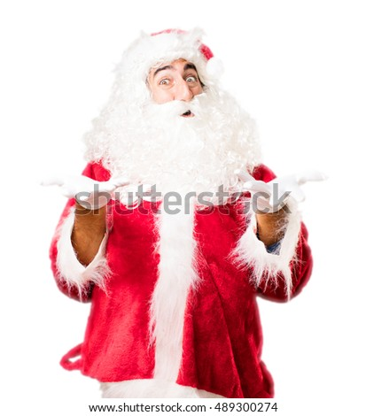 santa claus proud pose