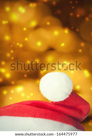 Santa Claus red hat on grunge background