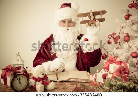 Santa Claus senior man. Christmas holiday concept - stock photo